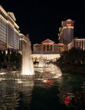 Ξενοδοχείο το Caesars Palace του Λας Βέγκας τή νύχτα Στοκ Εικόνες