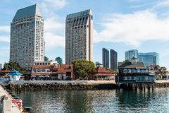 Ξενοδοχείο Bay Area του Σαν Ντιέγκο και χωριό θαλάσσιων λιμένων Στοκ Φωτογραφία