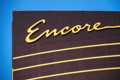 Ξενοδοχείο Encore και χαρτοπαικτική λέσχη στο Λας Βέγκας, Νεβάδα Στοκ φωτογραφίες με δικαίωμα ελεύθερης χρήσης