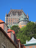 Ξενοδοχείο Frontenac, πόλη του Κεμπέκ, Καναδάς στοκ φωτογραφίες με δικαίωμα ελεύθερης χρήσης
