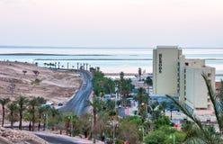 Ξενοδοχείο Herods στις ακτές της νεκρής θάλασσας στοκ εικόνα