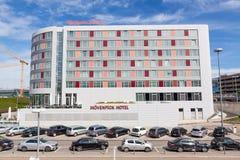 Ξενοδοχείο Movenpick - ένα ξενοδοχείο κοντά στην εμπορική έκθεση Messe της Στουτγάρδης και τον αερολιμένα Στοκ φωτογραφία με δικαίωμα ελεύθερης χρήσης