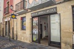Ξενώνες προσκυνητών του τρόπου του ST James σε Logroño Στοκ Φωτογραφίες