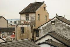 Ξεπερασμένα ασιατικά σπίτια αρχιτεκτονικής στοκ εικόνα