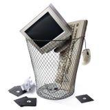 ξεπερασμένη τεχνολογία μηνυτόρων πληκτρολογίων ΚΜΕ Στοκ Φωτογραφίες