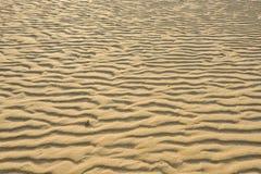 Ξεράνετε την κυματισμένη χρυσή άμμο, ιδανική για τα υπόβαθρα Στοκ Φωτογραφίες