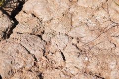 Ξεράνετε τη ραγισμένη γήινη έρημο Στοκ εικόνα με δικαίωμα ελεύθερης χρήσης