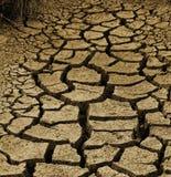 Ξεράνετε το ραγισμένο αυστραλιανό ρύπο κατά τη διάρκεια μιας ξηρασίας Στοκ Εικόνα