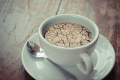 Ξεράνετε το ραγισμένο χώμα καμία βροχή στον καφέ Στοκ Φωτογραφία