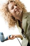 ξεραίνει τη γυναίκα τριχώμ&alp στοκ εικόνες με δικαίωμα ελεύθερης χρήσης