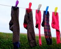 Ξεραίνοντας κάλτσες Στοκ φωτογραφία με δικαίωμα ελεύθερης χρήσης
