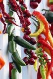 ξεραίνοντας πιπέρια jalapeno καρπ Στοκ εικόνα με δικαίωμα ελεύθερης χρήσης