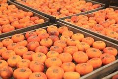 Ξεραίνοντας persimmon φρούτα στοκ φωτογραφία