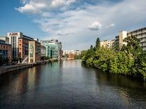 Ξεφάντωμα ποταμών στο Βερολίνο Σαρλότεμπουργκ Στοκ Εικόνες