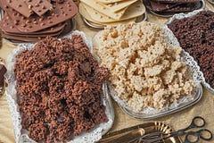 Ξεφγμένο ρύζι με τη σοκολάτα Στοκ Εικόνες