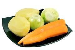 ξεφλουδισμένα λαχανικά &pi Στοκ Φωτογραφίες