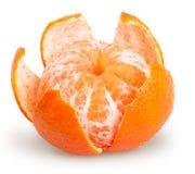Ξεφλουδισμένα tangerine ή μανταρινιών φρούτα που απομονώνονται Στοκ φωτογραφία με δικαίωμα ελεύθερης χρήσης