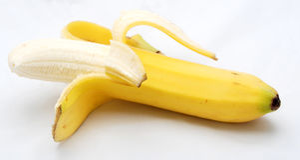 Ξεφλουδισμένη μπανάνα στοκ εικόνα