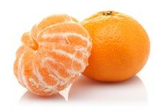 Ξεφλουδισμένο Tangerine και Tangerine στοκ εικόνες