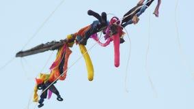 Ξεφουσκωμένα μπαλόνια κόμματος Στοκ εικόνα με δικαίωμα ελεύθερης χρήσης