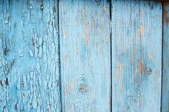 Ξεφλουδίζοντας μπλε ξύλινο χρώμα Στοκ Εικόνες
