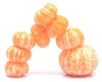 Ξεφλουδισμένα tangerines Στοκ Φωτογραφίες