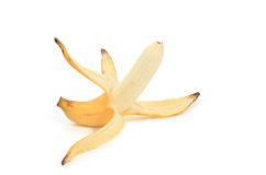ξεφλουδισμένη μπανάνα Στοκ εικόνα με δικαίωμα ελεύθερης χρήσης