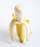 Ξεφλουδισμένη μπανάνα Στοκ εικόνες με δικαίωμα ελεύθερης χρήσης