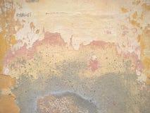 Ξεφλουδισμένο ραγισμένο υπόβαθρο τοίχων ασβεστοκονιάματος Στοκ Φωτογραφία