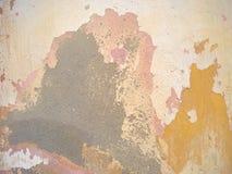 Ξεφλουδισμένο ραγισμένο υπόβαθρο τοίχων ασβεστοκονιάματος Στοκ Εικόνες