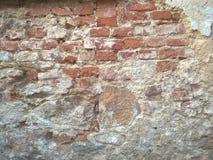 Ξεφλουδισμένο ραγισμένο υπόβαθρο τοίχων ασβεστοκονιάματος Στοκ Εικόνα