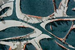 Ξεφλουδισμένο Aqua χρώμα 1 Στοκ Φωτογραφίες