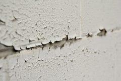 Ξεφλούδισμα του άσπρου χρώματος στον τοίχο Στοκ Εικόνες