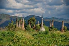Ξεχασμένες χρονικές αρχαίες καταστροφές των βουδιστικών ναών Στοκ Φωτογραφία