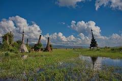 Ξεχασμένες χρονικές αρχαίες καταστροφές των βουδιστικών ναών Στοκ φωτογραφίες με δικαίωμα ελεύθερης χρήσης