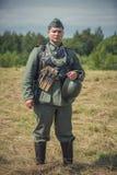 Ξεχασμένος άθλος Στρατιωτική ιστορική αναπαράσταση γραμμών του Στάλιν στοκ εικόνες