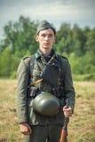 Ξεχασμένος άθλος Στρατιωτική ιστορική αναπαράσταση γραμμών του Στάλιν στοκ φωτογραφία