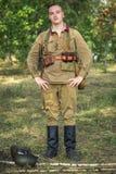 Ξεχασμένος άθλος Στρατιωτική ιστορική αναπαράσταση γραμμών του Στάλιν στοκ φωτογραφία με δικαίωμα ελεύθερης χρήσης