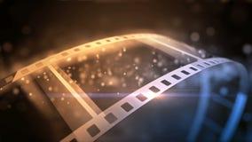 Ξεδίπλωμα ενός ρόλου ταινιών απεικόνιση αποθεμάτων
