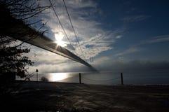 ξημερώματα γεφυρών Στοκ εικόνες με δικαίωμα ελεύθερης χρήσης
