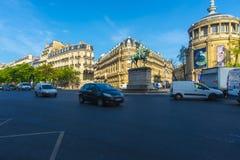 Ξημερώματα οδών του Παρισιού Στοκ Φωτογραφίες