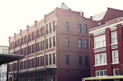 Ξημερώματα σε στο κέντρο της πόλης Gaveston, Τέξας Στοκ φωτογραφία με δικαίωμα ελεύθερης χρήσης