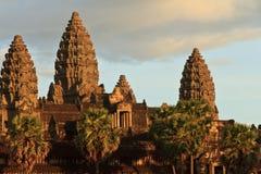 Ξημερώματα σε Angkor Wat, Καμπότζη Στοκ Εικόνα
