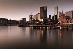 Ξημερώματα στην κυκλική αποβάθρα, Σύδνεϋ, Αυστραλία Στοκ εικόνες με δικαίωμα ελεύθερης χρήσης