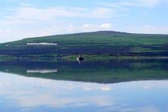 Ξημερώματα στον κόλπο στην Αρκτική στοκ εικόνες