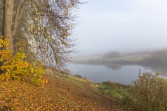 Ξημερώματα στον ποταμό Soroti στο κτήμα Trigorskoye Στοκ Εικόνα