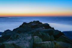Ξημερώματα στο νησί του Sullivan, νότια Καρολίνα Στοκ Εικόνα