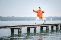 Ξημερώματα qi-Gong Στοκ φωτογραφία με δικαίωμα ελεύθερης χρήσης