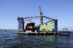 Ξηρά αποβάθρα σε Valparaiso Στοκ φωτογραφία με δικαίωμα ελεύθερης χρήσης