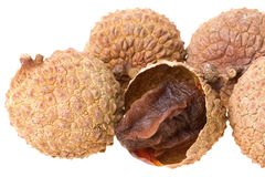ξηρά απομονωμένα lychees Στοκ φωτογραφία με δικαίωμα ελεύθερης χρήσης